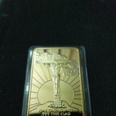 Reproducciones billetes y monedas: MONEDA LINGOTE LA ULTIMA CENA DE JESÚS. Lote 275618403