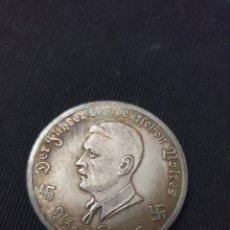 Reproducciones billetes y monedas: MONEDA 10 MARK ADOLF HITLER 1944. Lote 275618758
