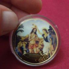 Reproducciones billetes y monedas: MONEDA ONZA JESÚS CRISTO. Lote 275623138