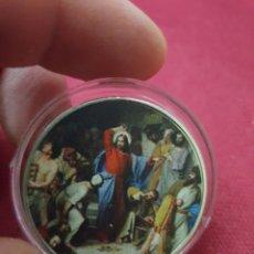Reproducciones billetes y monedas: MONEDA ONZA JESÚS CRISTO. Lote 275623153