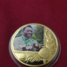 Reproducciones billetes y monedas: MONEDA ONZA PELE. Lote 275623173