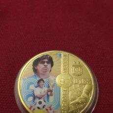 Reproducciones billetes y monedas: MONEDA ONZA RIP MARADONA 1960-2020. Lote 275623183