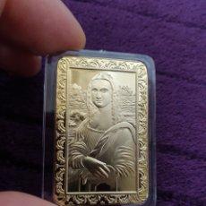 Reproducciones billetes y monedas: MONEDA O LINGOTE MONA LISA DE DAVINCI. Lote 275695883