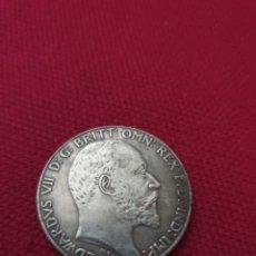 Reproducciones billetes y monedas: MONEDA ONE FLORIN EDWARDS VLL LNGLATERA 1905. Lote 275716833