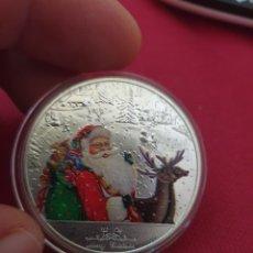 Reproducciones billetes y monedas: MONEDA ONZA MERRY CHRISTMAS AND HAPPY NEW YEAR. Lote 275723883