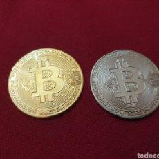 Reproducciones billetes y monedas: MONEDAS ARTÍSTICAS BITCOIN. Lote 275728308