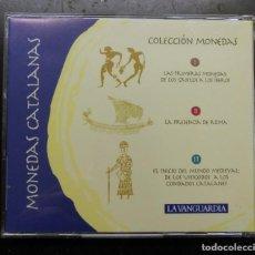 Reproduções notas e moedas: ESTUCHE REPRODUCCION DE MONEDAS CATALAS EDITADO POR LA VANGUARDIA - FALTA UNA. Lote 275786938