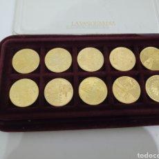 Reproducciones billetes y monedas: MONEDAS OLIMPIADAS LOMAS BOLAÑO. Lote 277105813