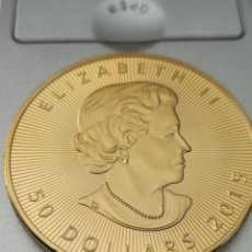 Reproductions billets et monnaies: MONEDA MAPPLE LEAF 1 OZ, 50 DÓLARES CANADIENSES.. Lote 277618258