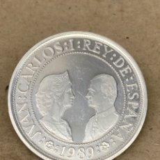 Reproducciones billetes y monedas: MONEDA DE PLATA CONMEMORATIVA 2000 PESETAS 1989. Lote 278348718