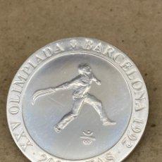 Reproducciones billetes y monedas: MONEDA DE PLATA CONMEMORATIVA 2000 PESETAS 1991. Lote 278353448