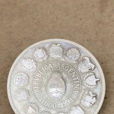 Reproducciones billetes y monedas: MONEDA DE PLATA CONMEMORATIVA ARGENTINA 1991. Lote 278355633
