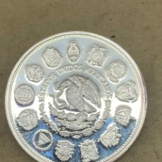 Reproducciones billetes y monedas: MONEDA DE PLATA CONMEMORATIVA MEXICO 100$ 1991. Lote 278356623