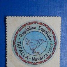 Reproducciones billetes y monedas: CARTÓN MONEDA DE USO PROVISIONAL - TAFALLA - NAVARRA - 40 CÉNTIMOS -. Lote 278974968