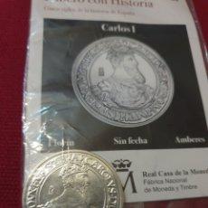 Reproducciones billetes y monedas: MONEDA FLORIN CARLOS L AMBERES SIN FECHA ACUÑADA EN METAL CON BAÑO DE PLATA PURA. Lote 283117063