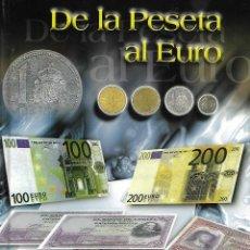 Reproducciones billetes y monedas: OPORTUNIDAD COLECCION COMPLETA DE LA PESETA AL €URO 120 BILLETES Y 12 MONEDAS DE PLATA VER FOTOS. Lote 284253168