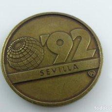 Reproductions billets et monnaies: FICHA EXPO 92 DE SEVILLA. NAVIGATION. Lote 285408548