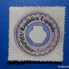 Reproduções notas e moedas: CARTÓN MONEDA DE USO PROVISIONAL - VILLAFRANCA - BALEARES - 15 CÉNTIMOS -. Lote 285628983