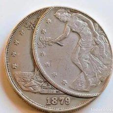 Reproductions billets et monnaies: USA TRADE DOLLAR 1879 ERROR DE MONEDA - 37.MM DIAMETRO - 26GRAMOS. Lote 285677873