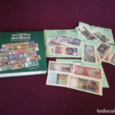 Reproductions billets et monnaies: COLECCIÓN TODOS LOS BILLETES DEL MUNDO, ÁLBUM MÁS ALGUNOS SOBRES CON BILLETES. Lote 286957993