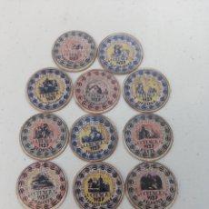 Reproductions billets et monnaies: COLECCION 14 CARTON MONEDAS DIFERENTES CUENCA. Lote 287068043