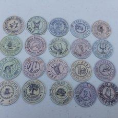 Reproductions billets et monnaies: COLECCION CARTON MONEDA 20 DIFERENTES ALMERIA. Lote 287091298