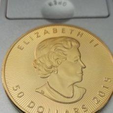 Reproductions billets et monnaies: 1 OZ FINE GOLD CANADA,50 DÓLARES ELIZABETH II 2015. Lote 287477793