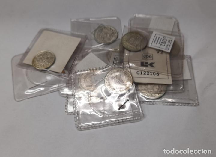 LOTE DE 11 MONEDAS ESPAÑOLAS - PLATA 800 MILESIMAS - REPRODUCCION (Numismática - Reproducciones)