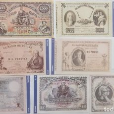 Reproducciones billetes y monedas: 21 BILLETES DE 1000 PTAS. BANCO DE ESPAÑA FACSIMIL/COPIA - COLECCION EDICIONES GRUPOJOLY - 2001. Lote 288074263