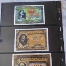 Reproducciones billetes y monedas: ESPAÑA 20 BILLETES ANTIGUOS REPRODUCCIÓN. Lote 288345623