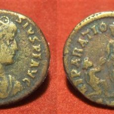Reproduções notas e moedas: REPRODUCCION DE UN FOLLIS DE TEODOSIO I CECA ROMA. Lote 288590633
