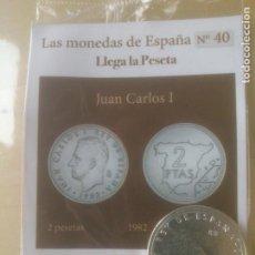Reproducciones billetes y monedas: LAS MONEDAS DE ESPAÑA,CON BAÑO DE ORO Y PLATA PUROS.ACUÑADA POR LA F.N.MONEDA Y TIMBRE.. Lote 288741378