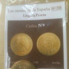 Reproducciones billetes y monedas: LAS MONEDAS DE ESPAÑA,CON BAÑO DE ORO Y PLATA PUROS.ACUÑADA POR LA F.N.MONEDA Y TIMBRE.. Lote 288741438