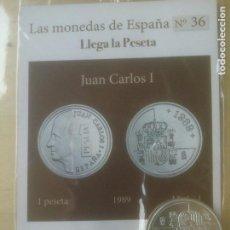 Reproducciones billetes y monedas: LAS MONEDAS DE ESPAÑA,CON BAÑO DE ORO Y PLATA PUROS.ACUÑADA POR LA F.N.MONEDA Y TIMBRE.. Lote 288741548