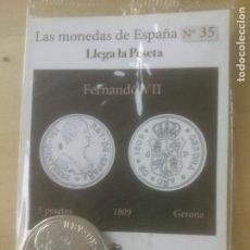 Reproducciones billetes y monedas: LAS MONEDAS DE ESPAÑA,CON BAÑO DE ORO Y PLATA PUROS.ACUÑADA POR LA F.N.MONEDA Y TIMBRE.. Lote 288741588