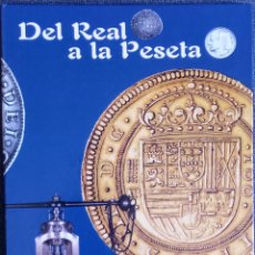 Reproducciones billetes y monedas: DEL REAL A LA PESETA-TAPAS Y PRIMERA REPRODUCIÓN DE COLECCIÓN 40 MONEDAS HISTÓRICAS LIMITADA Y EXCLU. Lote 288876278
