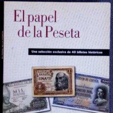 Reproducciones billetes y monedas: EL PAPEL DE LA PESETA- REPRODUCIONES DE 40 BILLETES HISTÓRICOS LIMITADA Y NUMERADA FNMT. Lote 288877173