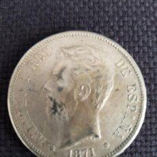 Reproducciones billetes y monedas: 5 PESETAS 1871. Lote 288925838