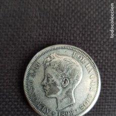 Reproducciones billetes y monedas: 5 PESETAS 1898. Lote 288925923