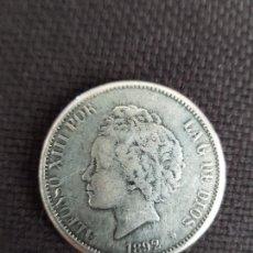 Reproducciones billetes y monedas: 5 PESETAS 1892. Lote 288925968