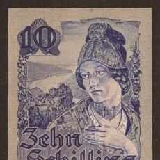 Reproducciones billetes y monedas: AUSTRIA. 10 SCHILLING 29.5.1945. PICK 114. S/C.. Lote 289618013