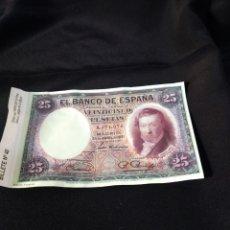 Reproducciones billetes y monedas: BILLETE 25 PESETAS 1931 ,ESPAÑA ,REPRODUCCIÓN PERTENECIENTE A COLECCIÓN ,BILLETE NÚMERO 40. Lote 289870178