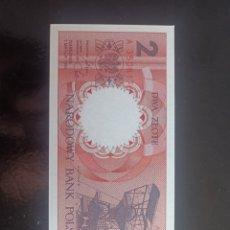 Reproducciones billetes y monedas: POLONIA 2 ZLOTYCH 1990. Lote 289948498