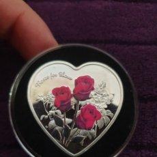 Riproduzioni banconote e monete: MONEDA CONMEMORATIVA ROSES OF LOVE. Lote 293796593