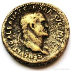 Reproduções notas e moedas: ⚜️ BONITA REPRODUCCIÓN SESTERCIO DE GALBA. BUEN ARTE. 26G / 34MM. AF773. Lote 295417488