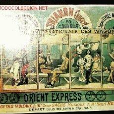 Coleccionismo de carteles: ORIENT EXPRESS. WAGONS-LITS (REPRODUCCIÓN CARTEL COMPAGNIE INTERNATIONALE DES...). Lote 2410494