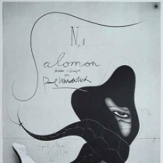 Coleccionismo de carteles: PAUL WUNDERLICH SALOMÓN CARTEL EXPOSICIÓN GALERÍA BRUSBERG BERLÍN 1970 FIRMADO TITULADO EN PLANCHA. Lote 27632571