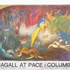 Coleccionismo de carteles: MARC CHAGALL DAPHNE ET CLOE CARTEL LITOGRÁFICO FIRMADO EN PLANCHA EXPOSICIÓN GALERÍA COLUMBUS 1977. Lote 32170193