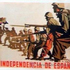 Coleccionismo de carteles: REPRODUCCION CARTEL GUERRA CIVIL 54, LA INDEPENDENCIA DE ESPAÑA, RENAU XX. Lote 19506840