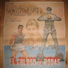 Coleccionismo de carteles: CARTEL DE CINE - DIN-A3 - EL COLOSO DE RODAS - - CINE PAZ - ALCALÁ DE HENARES - MADRID. Lote 31291105